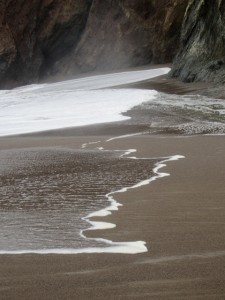 Life is like a wave reaching the beach.